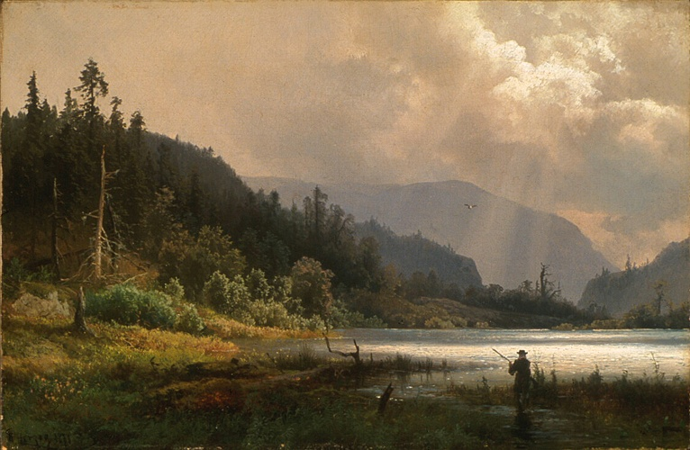 Herman Herzog In Exhibit The Hudson River School